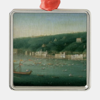 View of Naples from the east, 1730 Christmas Ornament