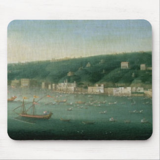 View of Naples from the east, 1730 Mouse Mat