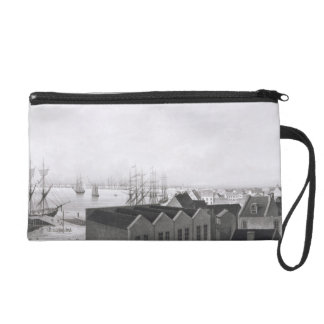 View of New Orleans taken from the Lower Cotton Pr Wristlet Clutch