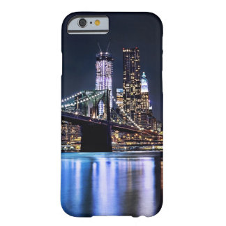 View of New York's Brooklyn bridge reflection Barely There iPhone 6 Case
