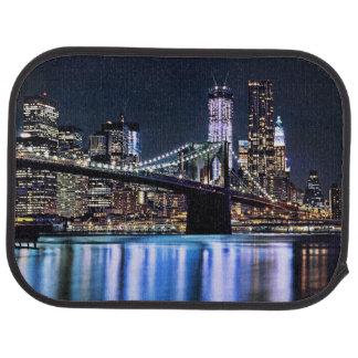 View of New York's Brooklyn bridge reflection Car Mat
