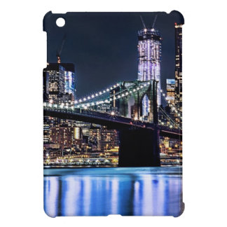 View of New York's Brooklyn bridge reflection Cover For The iPad Mini