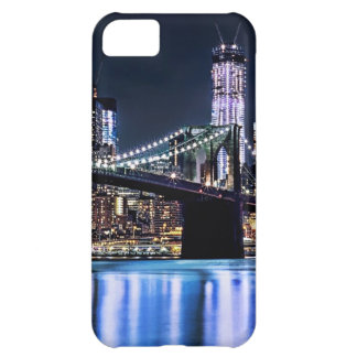 View of New York's Brooklyn bridge reflection iPhone 5C Case