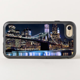 View of New York's Brooklyn bridge reflection OtterBox Symmetry iPhone 7 Case