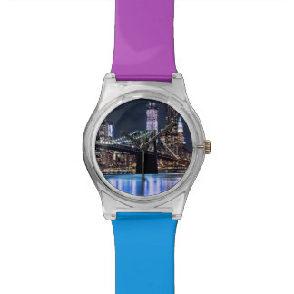 View of New York's Brooklyn bridge reflection Watches