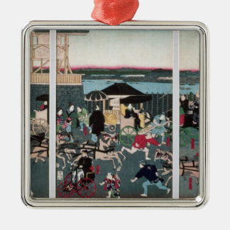 View of Nihonbashi in Tokyo, c.1870 Christmas Ornament