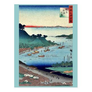 View of Niigata by Utagawa,Hiroshige Postcard