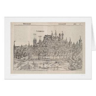 View of Nuremberg from Nuremberg Chronicle (1458) Greeting Card