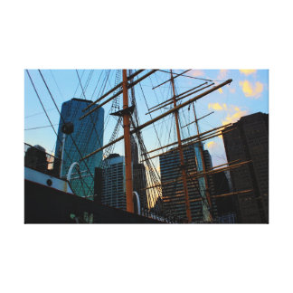 View of NYC from South Street Seaport Canvas Print