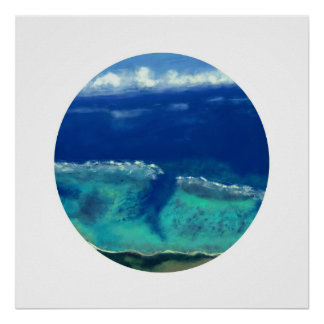 View of Okinawa Sea (Zen Circle) Poster
