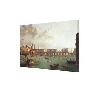 View of Old London Bridge Canvas Print