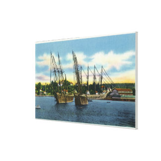 View of Old Shipwrecks in the Harbor Canvas Print