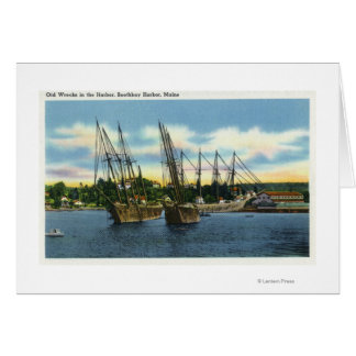 View of Old Shipwrecks in the Harbor Card