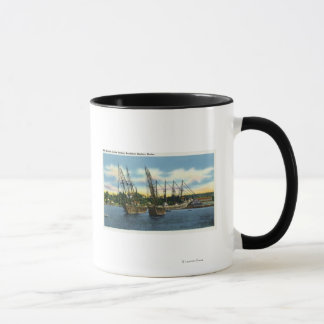 View of Old Shipwrecks in the Harbor Mug