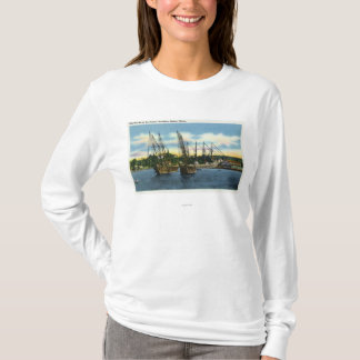 View of Old Shipwrecks in the Harbor T-Shirt