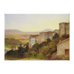 View of Olevano, 1821-24 Canvas Print