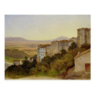 View of Olevano, 1821-24 Postcard