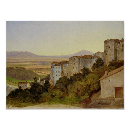 View of Olevano, 1821-24 Poster