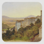 View of Olevano, 1821-24 Square Sticker