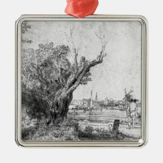 View of Omval, near Amsterdam, 1645 Christmas Ornament