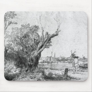 View of Omval, near Amsterdam, 1645 Mouse Mat