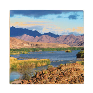 View Of Orange River, Richtersveld Transfrontier Wood Coaster