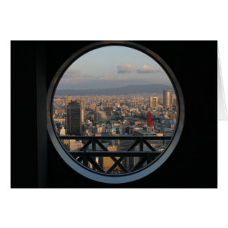 View of Osaka Japan from Umeda Sky building Greeting Card