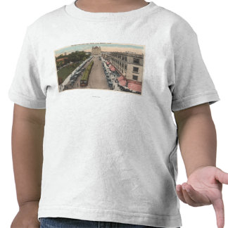 View of Pacific Avenue and City Hall Tshirts