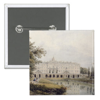 View of Palace of Strelna near St. Petersburg 15 Cm Square Badge