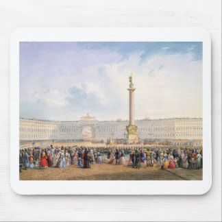 View of Palace Square and the General Headquarters Mouse Pad