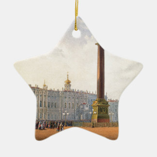 View of Palace Square and Winter Palace Christmas Ornament
