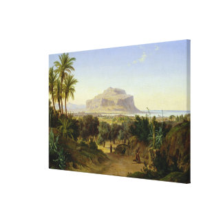 View of Palermo with Mount Pellegrino Canvas Print