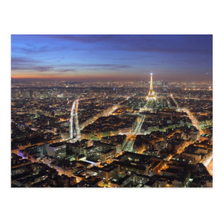 View of Paris at Night PostCard