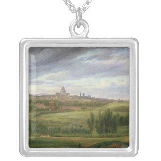 View of Paris from Butte aux Cailles, Gentilly Silver Plated Necklace
