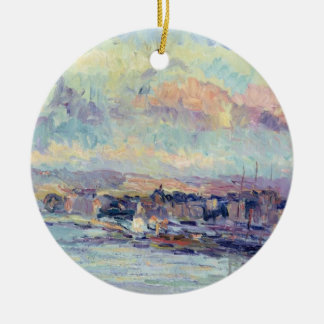 View of Paris (oil on canvas) Christmas Ornament