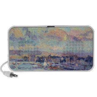 View of Paris (oil on canvas) Notebook Speaker