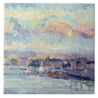 View of Paris (oil on canvas) Tile