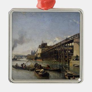 View of Paris, the Seine or l'Estacade, 1853 Christmas Ornament