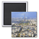 View of Paris with Eiffel Tower and La Defence