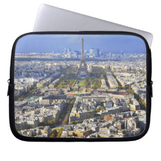 View of Paris with Eiffel Tower and La Defence Laptop Sleeve