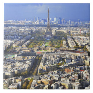View of Paris with Eiffel Tower and La Defence Tile