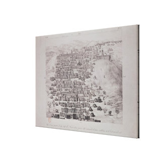 View of part of the town of Timbuktu from a hill Canvas Print