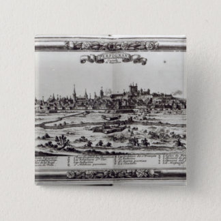 View of Perpignan, southern France, c.1645 15 Cm Square Badge