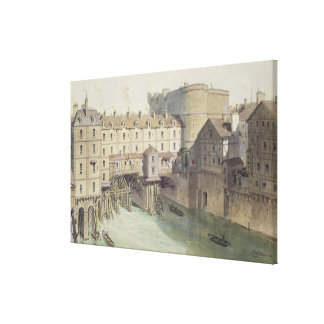 View of Petit Chatelet and the Petit Pont Stretched Canvas Print