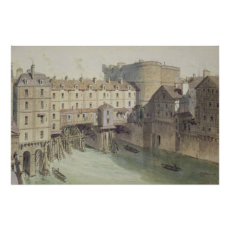 View of Petit Chatelet and the Petit Pont Poster