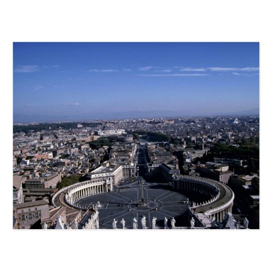 View of Piazza San Pietro from St. Peter's Basilic Postcard