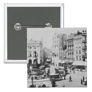 View of Piccadilly Circus, c. 1900 15 Cm Square Badge