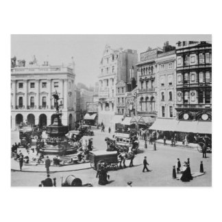 View of Piccadilly Circus, c. 1900 Postcard