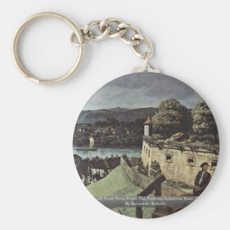 View Of Pirna Pirna From The Fortress Sunstone Basic Round Button Key Ring