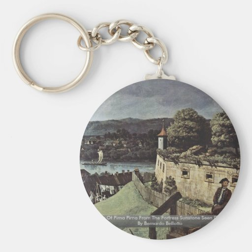 View Of Pirna Pirna From The Fortress Sunstone Key Chain